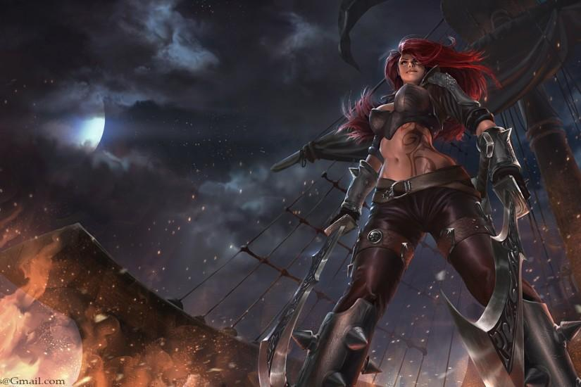 katarina league of legends girl hd wallpaper lol champion game full .
