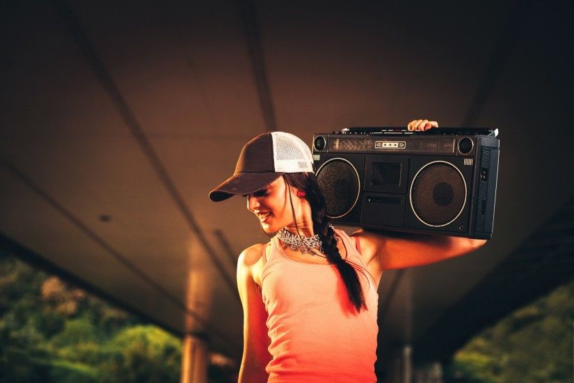 Hip Hop Music Girl HD