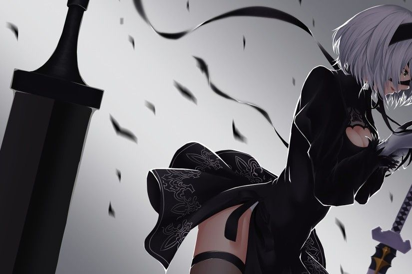 2B Wallpaper. ღ Morbid Nightcore ღ