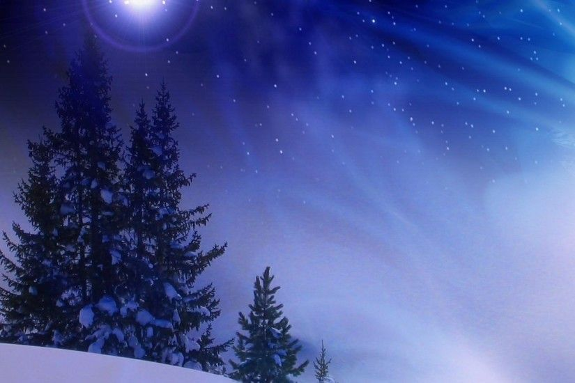 Preview wallpaper christmas trees, snow, winter, midnight, blizzard  1920x1080