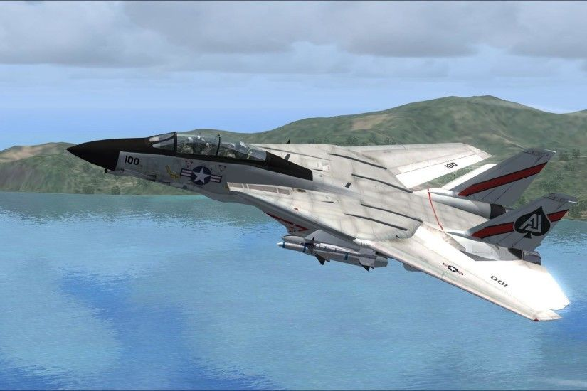 Fsx F-14 Tomcat Vf-41 HD desktop wallpaper : Widescreen : High .