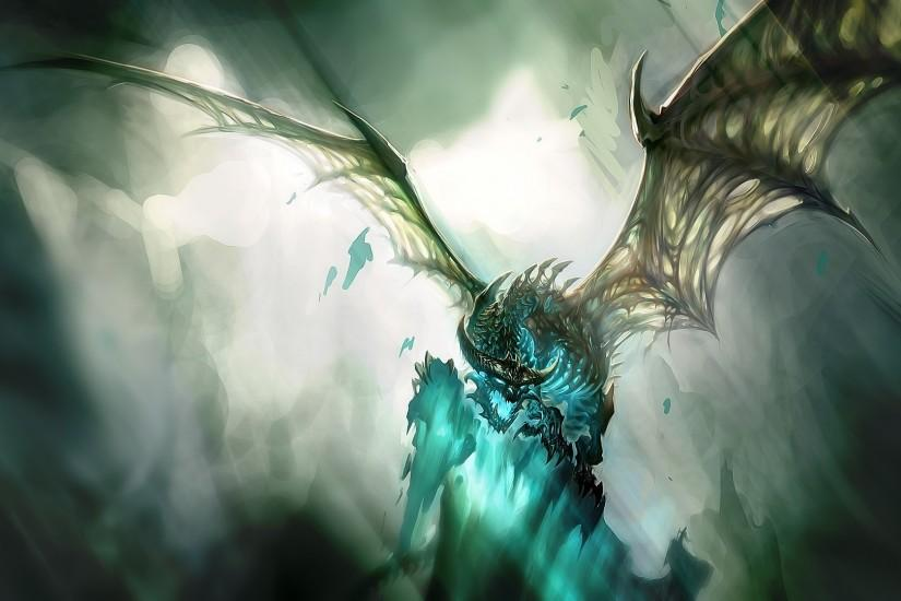 Preview wallpaper world of warcraft, dragon, wings, light, face 1920x1080