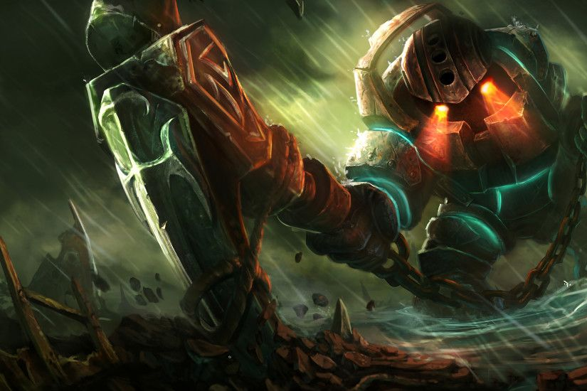 Classic Nautilus Splash Art League of Legends Artwork Wallpaper lol