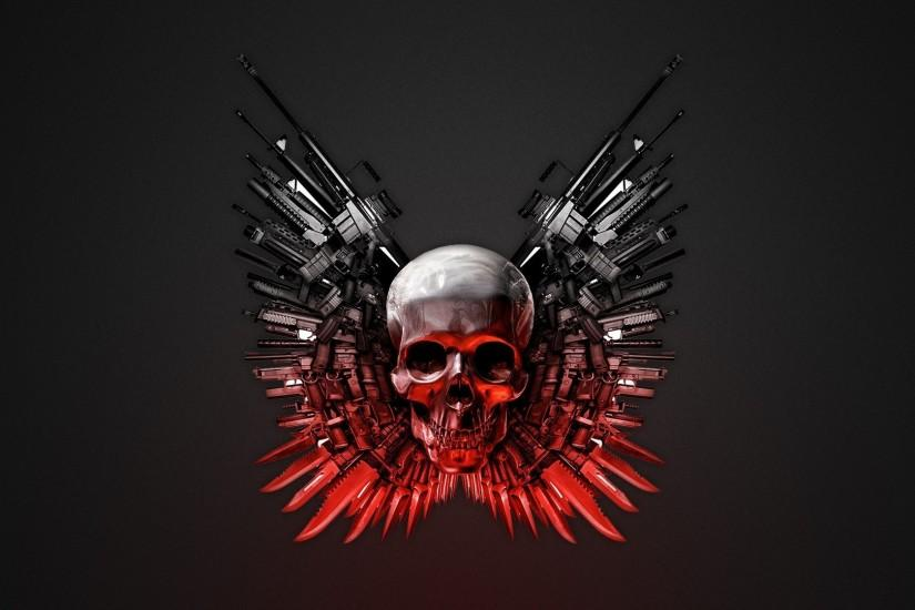 Abstract Skulls Wallpaper 1920x1080 Abstract, Skulls, Weapons, The .