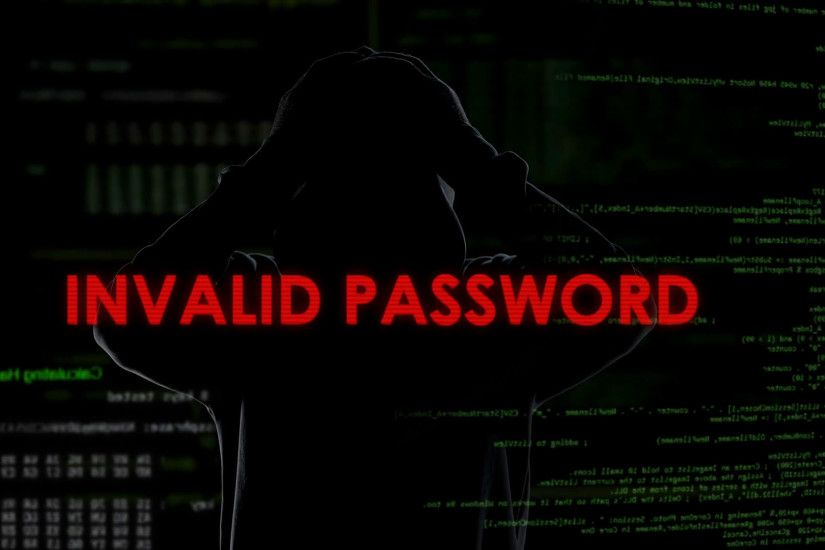 Invalid password, unsuccessful attempt to crack system, disappointed  criminal Stock Video Footage - Storyblocks Video