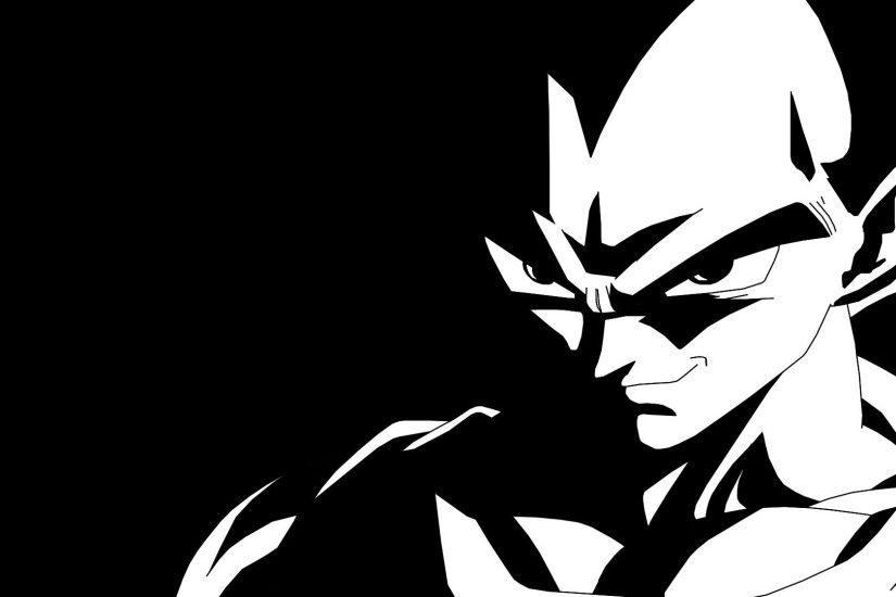 Anime - Dragon Ball Z Dragon Ball Vegeta (Dragon Ball) Black & White  Wallpaper