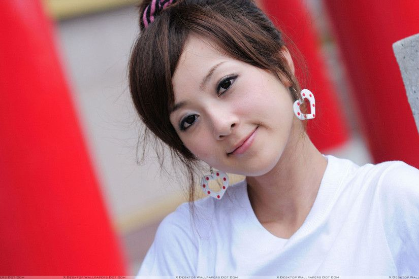 "You are viewing wallpaper titled ""Cute Smiling Face Of Asian ..."