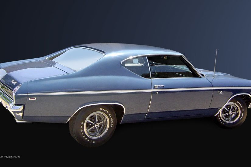 1969 Chevelle SS Wallpaper - Blue Coupe