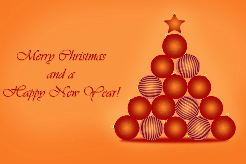 Merry Christmas and Happy New Year Wallpaper Free Download.
