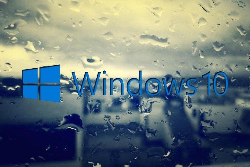 Windows 10 on the rainy window wallpaper - Computer wallpapers .