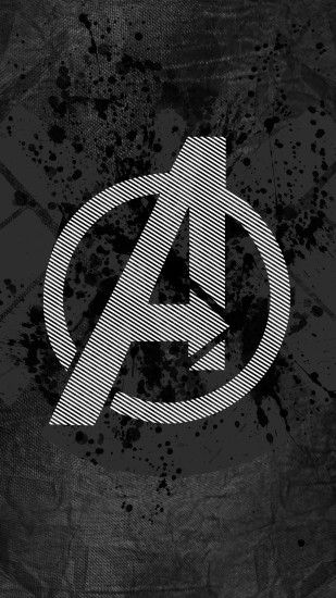 Avengers Logo Art Hero Dark Iphone 7 Wallpaper