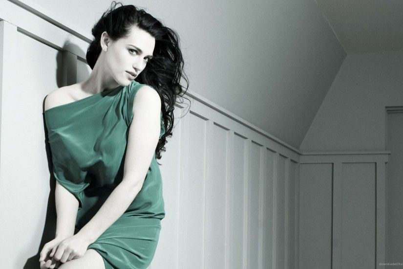 Katie McGrath Green Dress Wallpaper Background picture