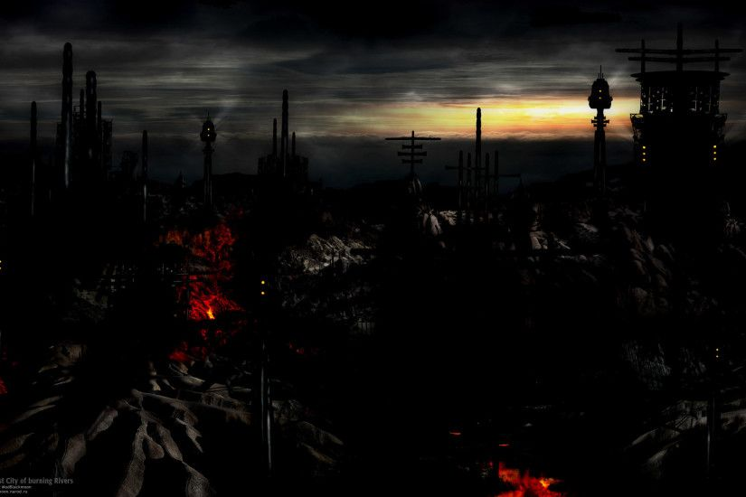 Dark - City Dark CGI Digital Art Wallpaper