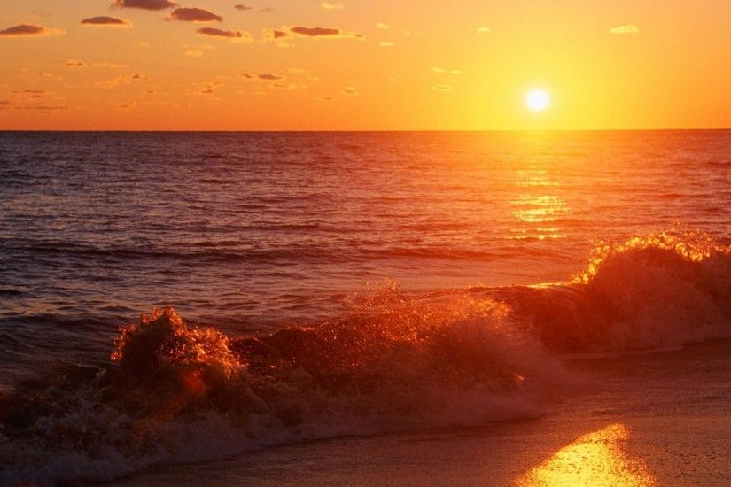 Sunset On The Beach Wallpaper Latest Pictures