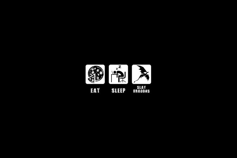 Eat Sleep Slay Dragons Creative Wallpapers HD.