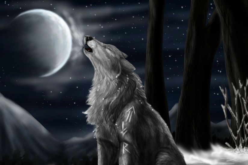 ... wolf HD Wallpaper 2560x1600 Howling ...