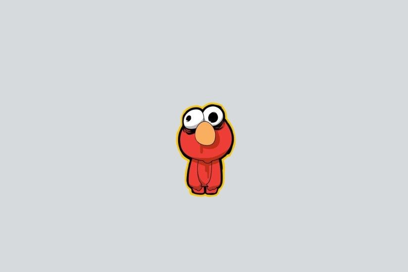 Elmo from Sesame Street, a gray background Desktop wallpapers 1920x1080