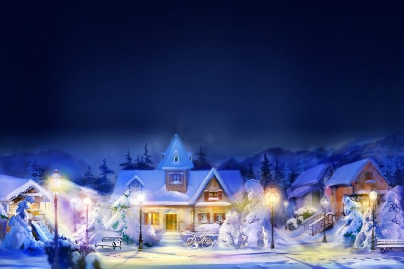 Christmas Village Background