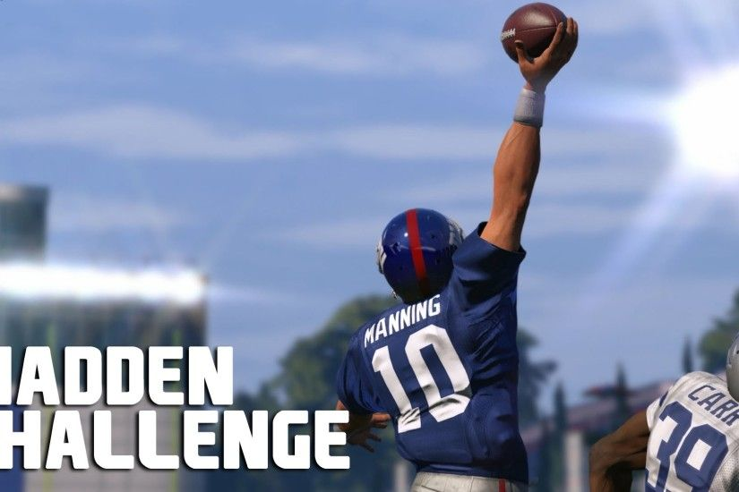 Can Eli Manning Recreate The Odell Beckham Jr Catch? - Madden NFL Challenge  - YouTube