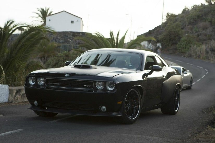 Black Dodge Challenger SRT8 from the fast and the furious 6