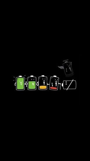 Life Cycle Of A Battery Funny Android Wallpaper