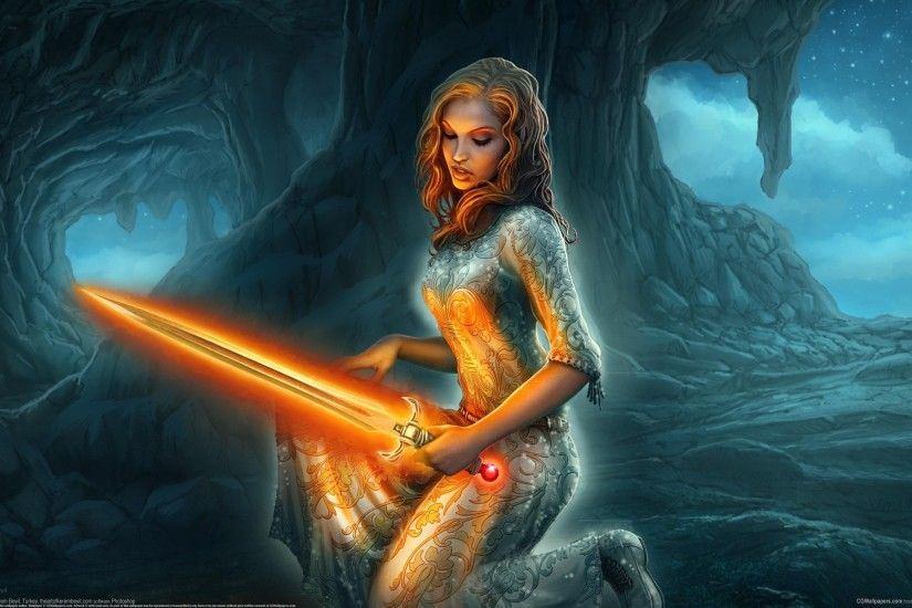 Fantasy - Women Wallpaper | Darkness - Autor Variado | Pinterest | Fantasy  women, Fantasy art warrior and Wallpaper