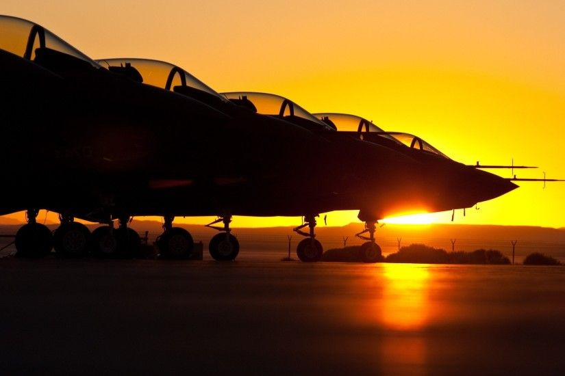 Silhouette Of Fighter Jet