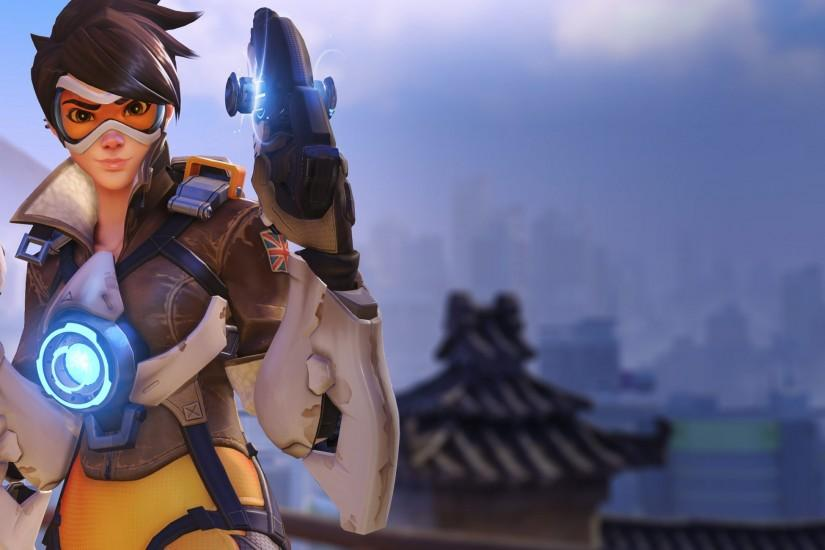 overwatch tracer wallpaper 2560x1300 high resolution