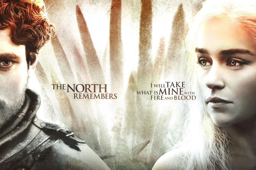 Preview wallpaper game of thrones, season 4, daenerys targaryen, jon snow,  main