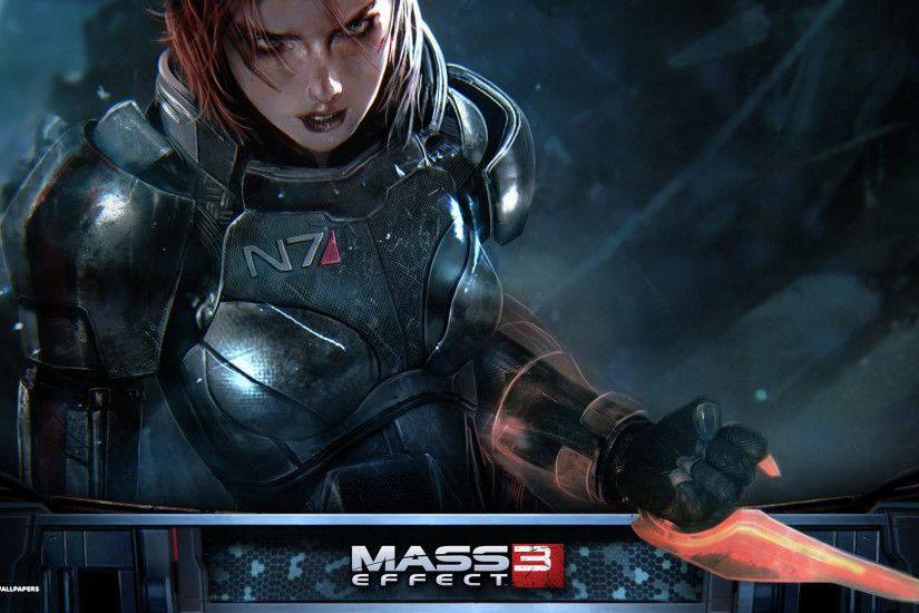 mass effect 3 femshep hd wallpaper