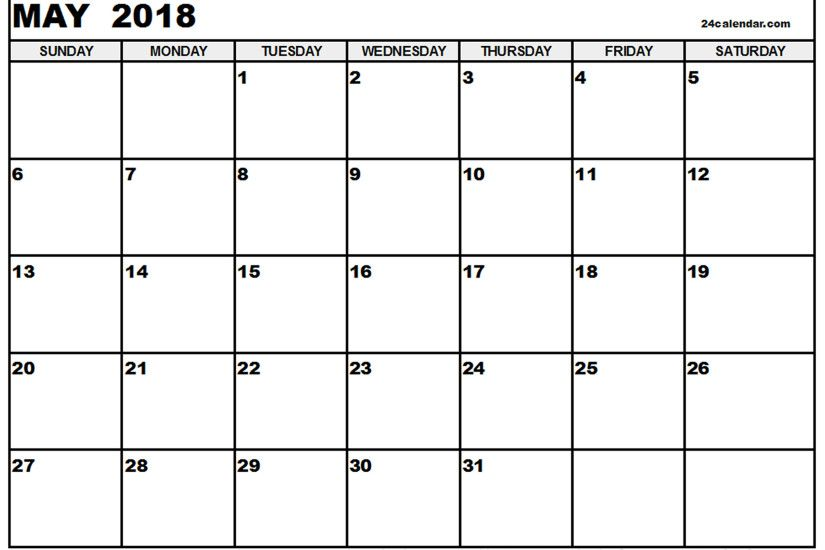 may 2018 calendar template may 2018 printable calendar