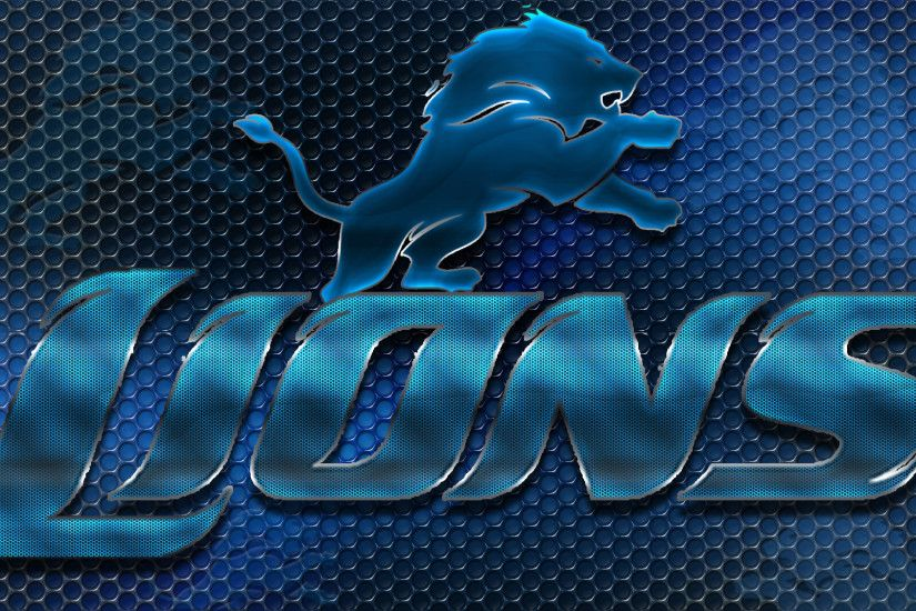 Detroit Lions images Detroit Lions Heavy Metal 16x9 Text N Logo Wallpaper  HD wallpaper and background photos