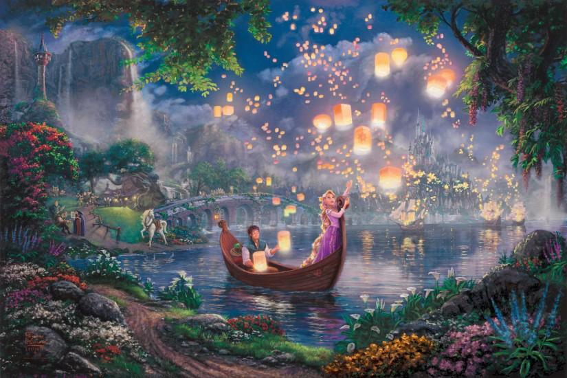 Tangled Wallpaper, Thomas Kinkade, painting, Kinkade, Walt Disney, 50 .