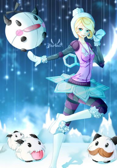 Winter Wonder Orianna & Poro by Harimii HD Wallpaper Fan Artwork League of  Legends lol