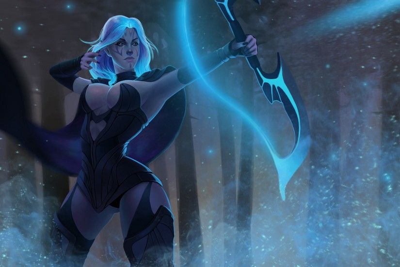 2560x1440 drow ranger dota 2 wallpaper hd