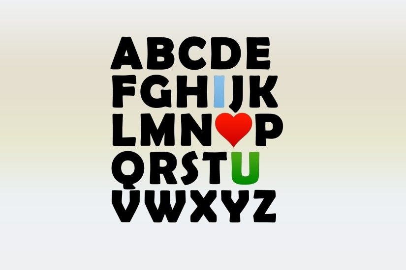 I Love U Alphabet wallpapers and stock photos
