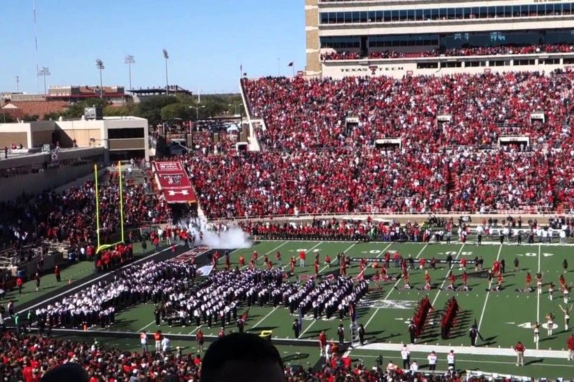 Texas Tech vs. Iowa State - Entrance of Red Raiders and run of the Masked  Rider - YouTube