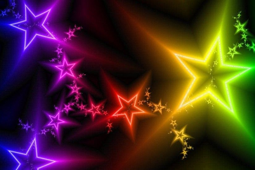 Wallpapers For > Colorful Star Wallpaper