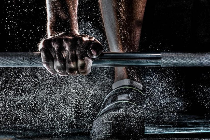 Barbell, hands wallpaper