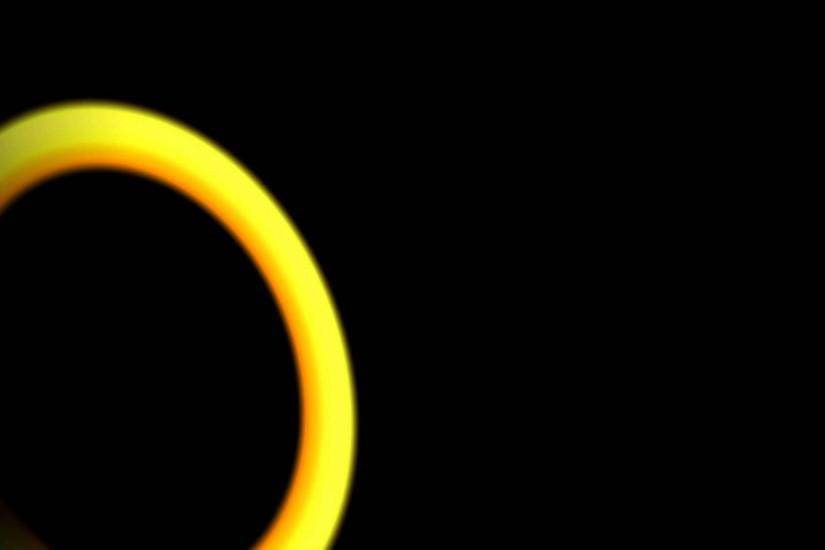 Disc Yellow Lens Flare Black Background 26 ANIMATION FREE FOOTAGE HD