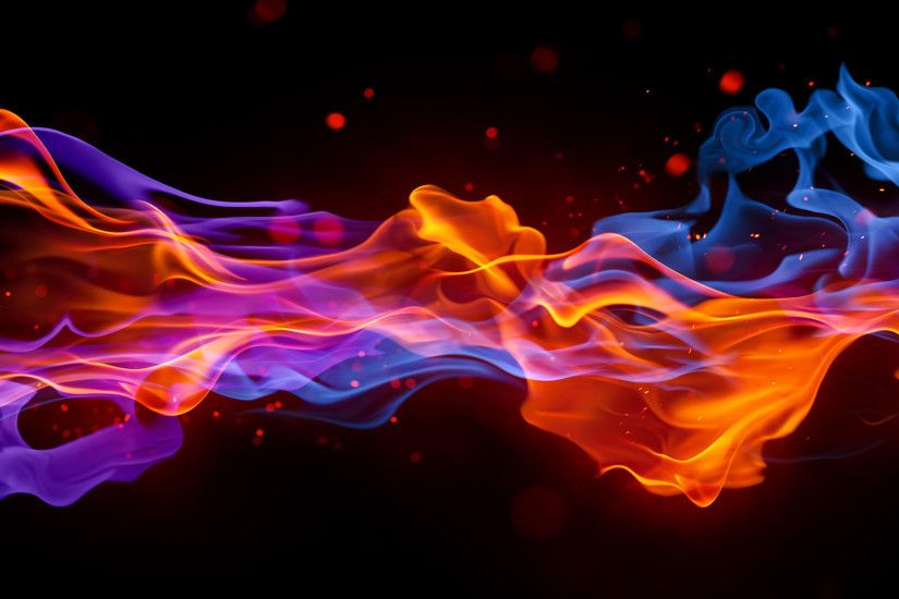 red and blue fire Wallpaper | HD Wallpapers