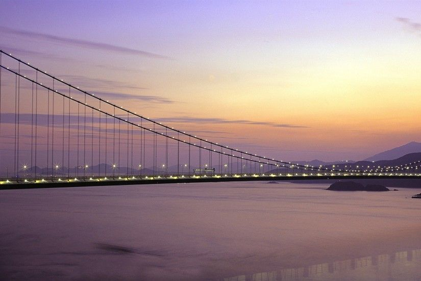 Windows 8 official panoramic wallpaper, cityscapes, Bridge, Horizon #3 -  1920x1080.