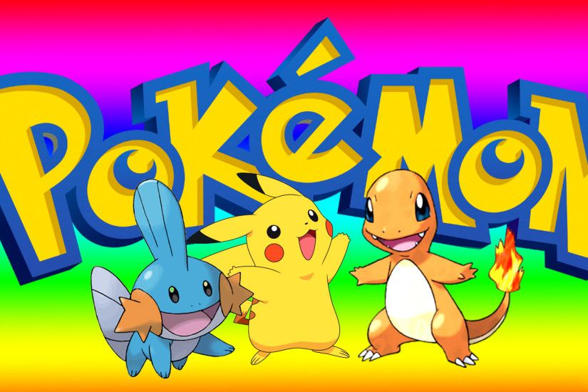 Pokemon Wallpaper with Pikachu, mudkip and Charmander