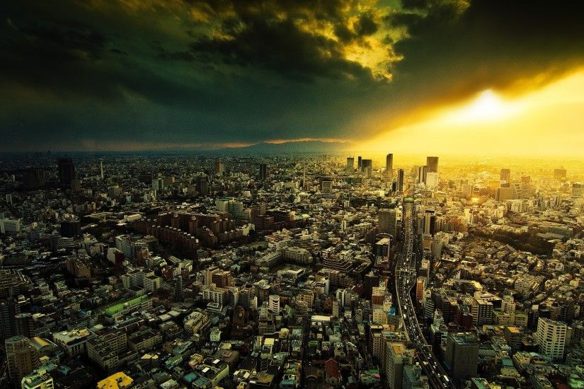 ... Wallpapers 4k City Wallpaper Download 3840x2160 City, Night, View From  Above, ...