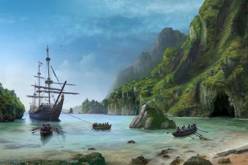 Sunken Pirate Ship Wallpaper Images & Pictures - Becuo