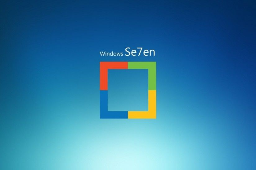 Preview wallpaper windows 7, logo, square, operating system 1920x1080