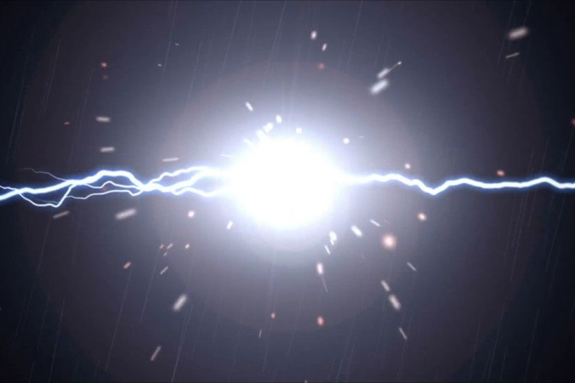 Sparks fly when bolts of plasma lightning meet over a black background.  With lens flare and subtle rain effect Motion Background - VideoBlocks