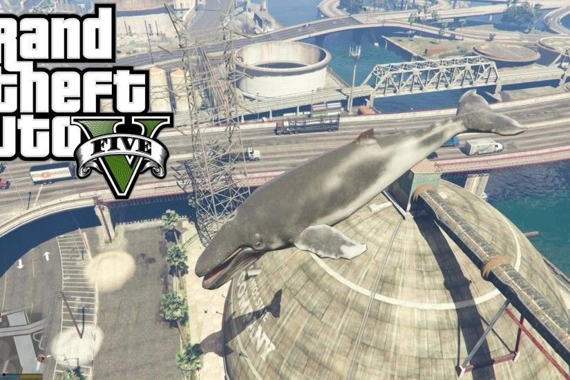 GTA 5 PC MOD - FLYING WHALES! HUMPBACK WHALE