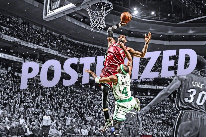 LeBron James Dunk Over Jason Terry 2560x1600 Wallpaper .