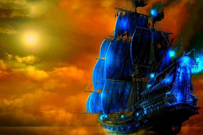 Wallpapers For > Pirate Ship Wallpaper